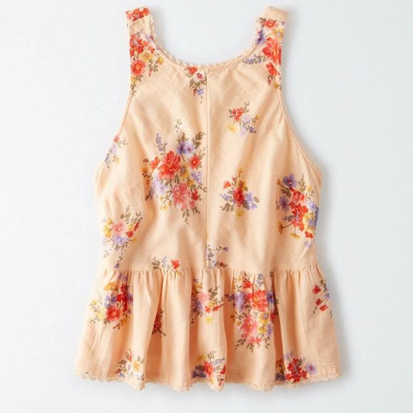 AMERICAN EAGLE Floral Sleeveless Tank Top